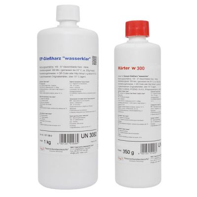 Transparent epoxy casting resin + hardener W300 1,35Kg